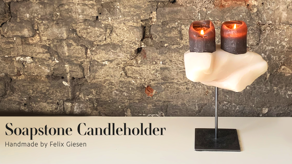 Handmade Candleholder made out of Soapstone project video thumbnail
