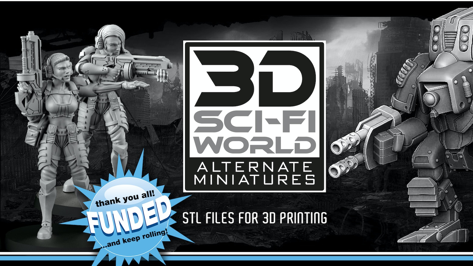 All stl! All the stl of the items and miniatures that will be sculpted in this kickstarter at a very advantageous price! Over 50 files!