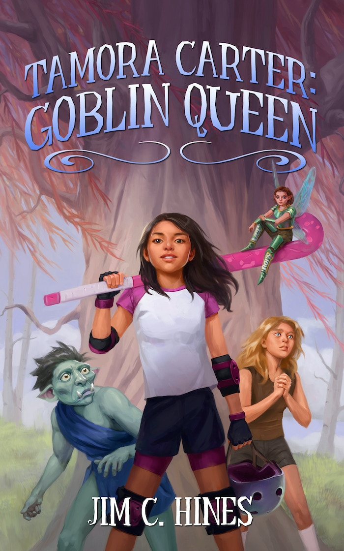 A fun middle grade book about a roller derby girl fighting fantasy creatures to save her friends, by an award-winning author.