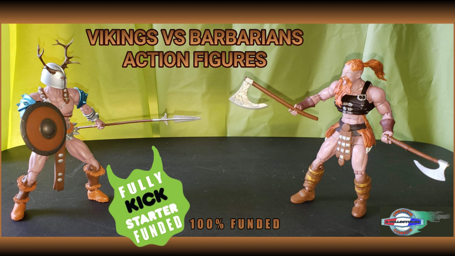 "Viking and Barbarian 6"" scale fully poseable collectible action figures, weapon packs, posters and more. We also Ship International!"