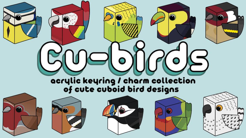 Project image for Cute Kawaii Bird Acrylic Keyrings / Charms