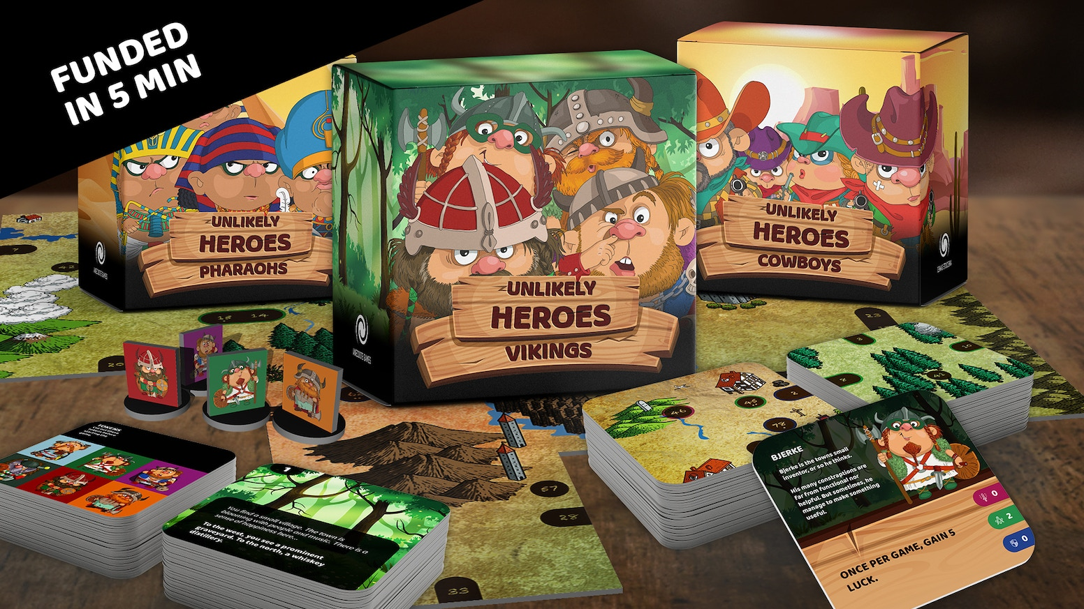 Epic narrative adventure board game for 1-4 players. Explore the map, find weapons, slay monsters and save the day!