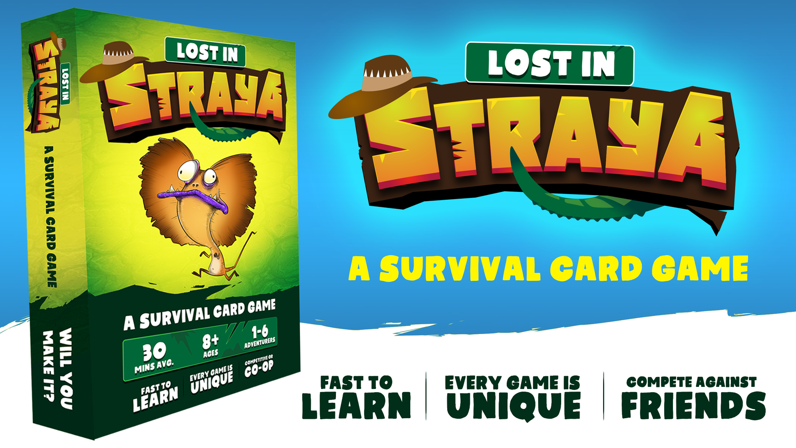 � A survival card game set in the Australian Outback! Craft. Explore. Survive. Get rescued!