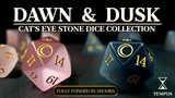 Dawn and Dusk Dice - Cat's Eye Stone Dice for Tabletop Games thumbnail