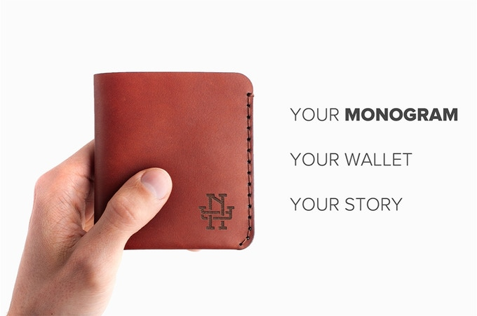Monogram Minimalist Wallet With Your Initials By Vergeco Kickstarter