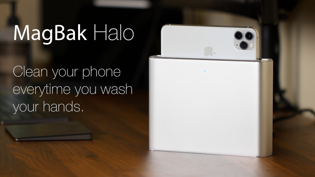 MagBak Halo - A touchless 30-second sanitizer for your phone project video thumbnail