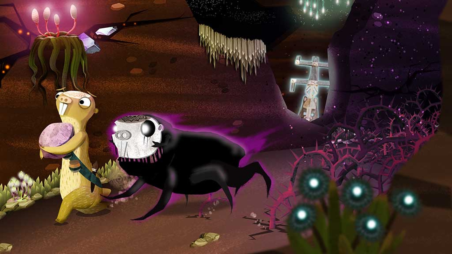 Duru is a game about the mole rat Tuli and her unreliable companion. Get to know a story about the struggle with depression.