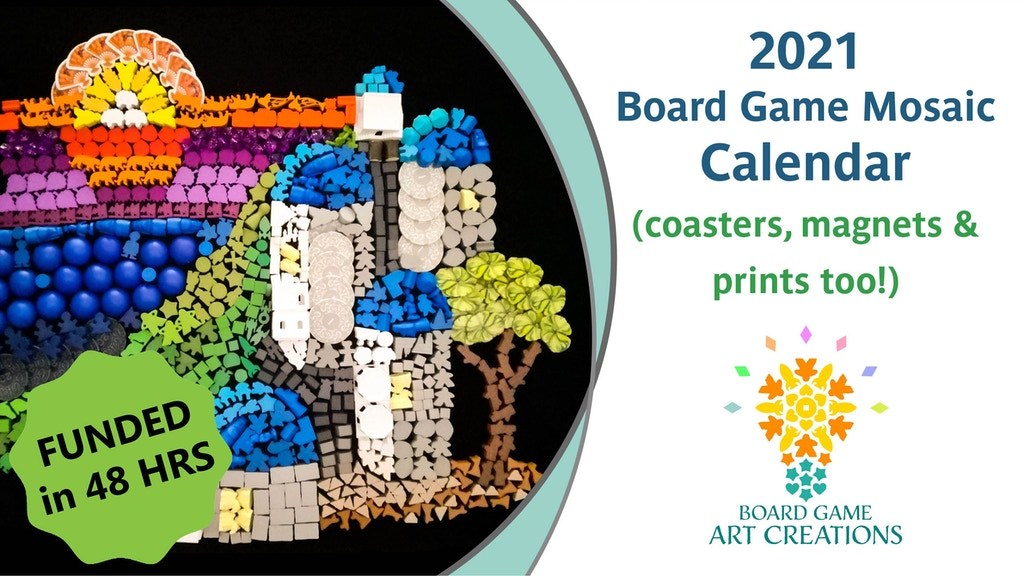 Project image for 2021 Board Game Mosaic Calendar