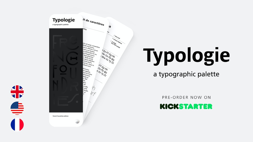 Typologie, a typographic palette project video thumbnail
