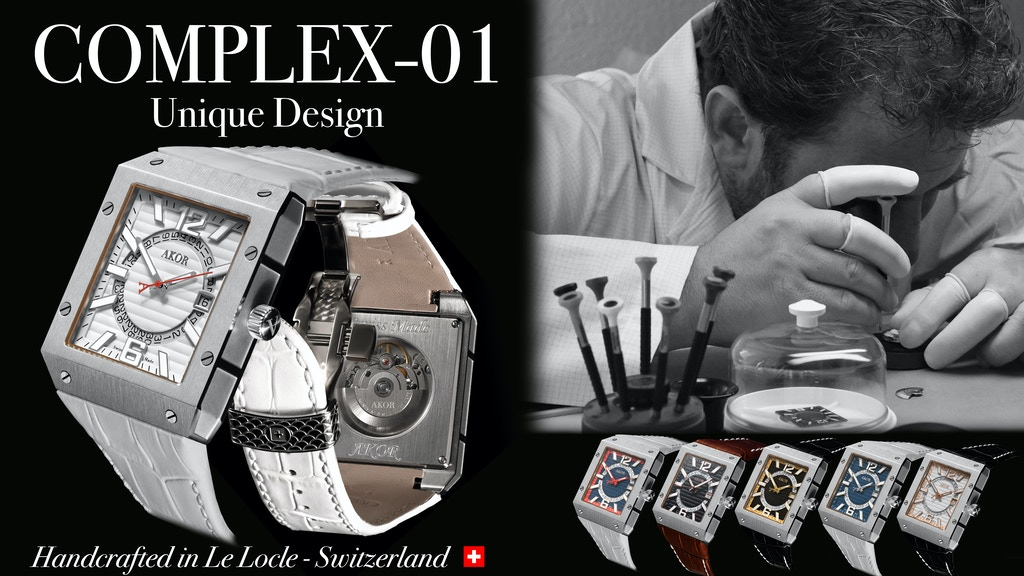 The COMPLEX-01, swiss handcrafted watch with Unique Design. project video thumbnail