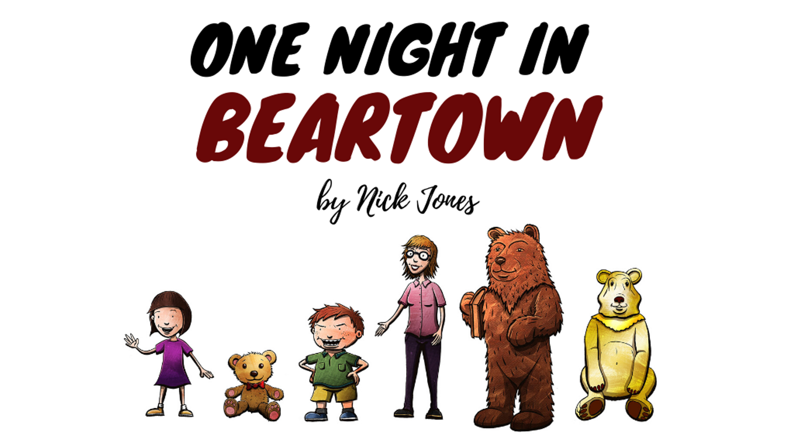 An illustrated children's book about a little girl's magical night out in Congleton when all the town's bear statues come to life.
