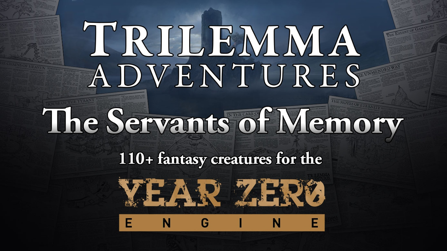 The Kickstarter is complete, but Servants of Memory will be coming soon to the Trilemma Store on DriveThruRPG, where you can buy the compendium, and bestiaries for 5e, Dungeon World, and B/X.