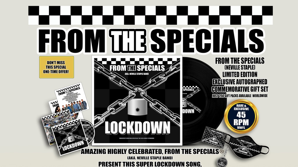 Project image for LOCKDOWN SKA 2020 FROM THE SPECIALS NEVILLE STAPLE (BAND)