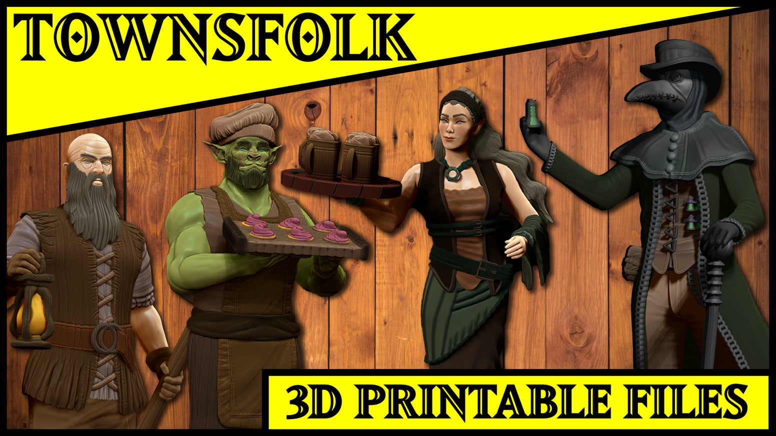 3D printable files optimized for detailed RESIN tabletop miniatures