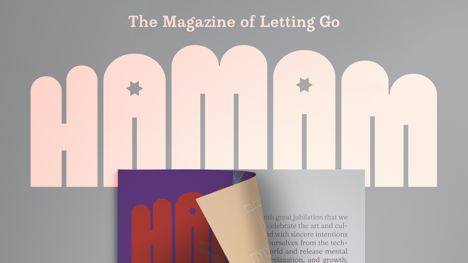 HAMAM is a new quarterly print publication that celebrates the art and culture of bathing