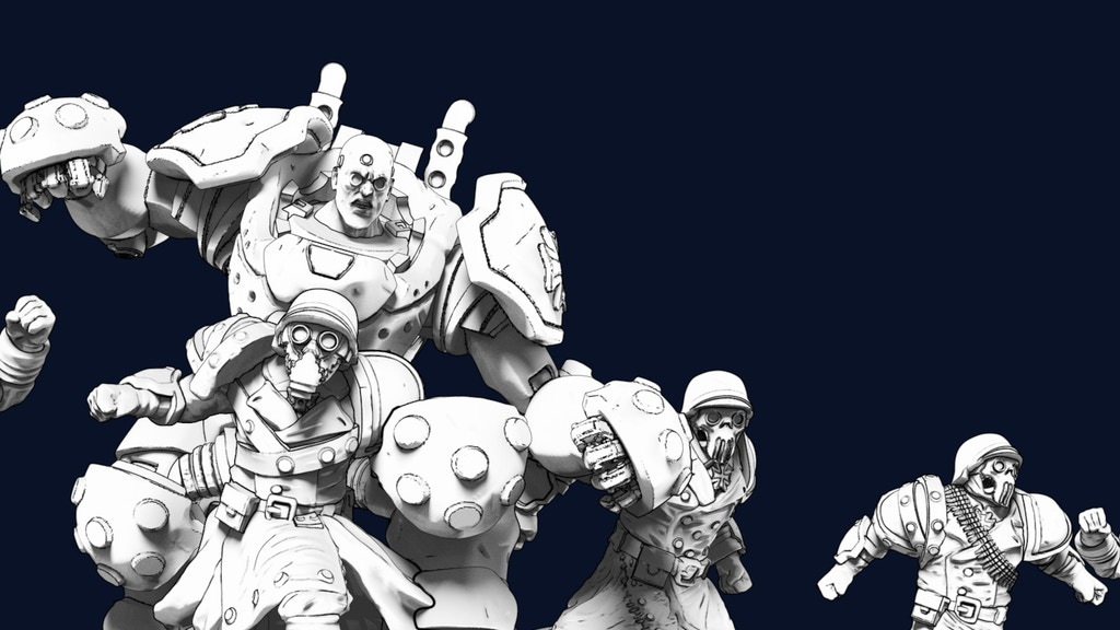 Project image for The Black Cross Worshippers -Human FF team in Resin or Metal