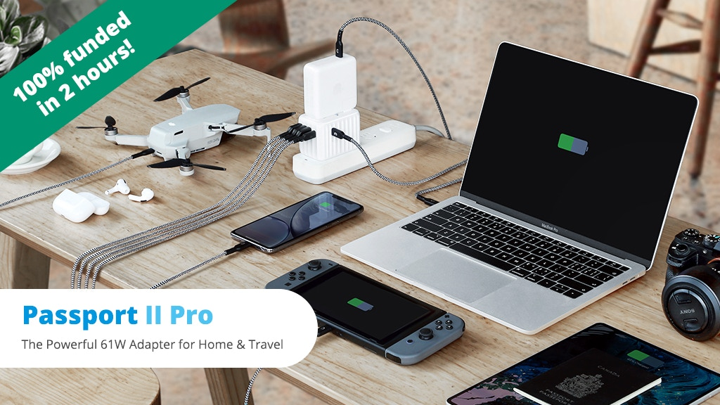 Passport II Pro: The Powerful 61W Adapter for Home & Travel project video thumbnail