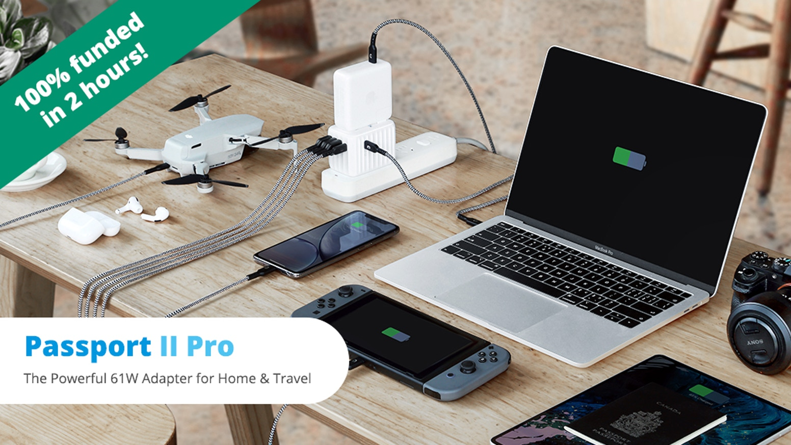 Super-Fast 61W USB-C PD | GaN Tech | Charge 6 Devices at Once | PPS for Samsung | 10A Auto-Resetting Fuse | Works in 200 Countries