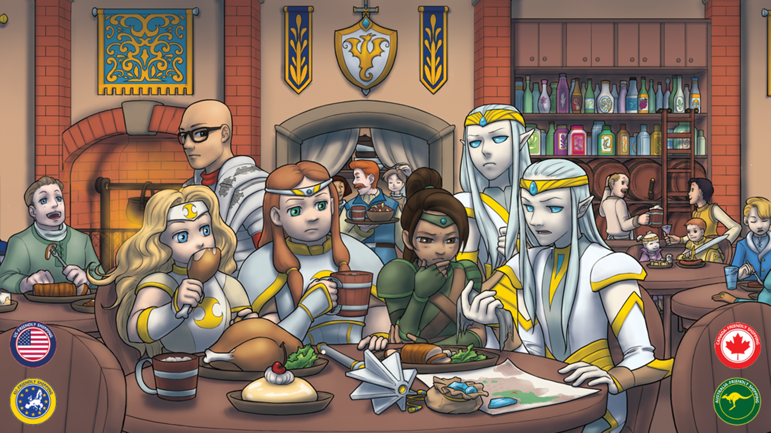 Play with your kids!  Ice & Flame is a large new expansion for the popular Heroes & Treasure family-friendly fantasy RPG.