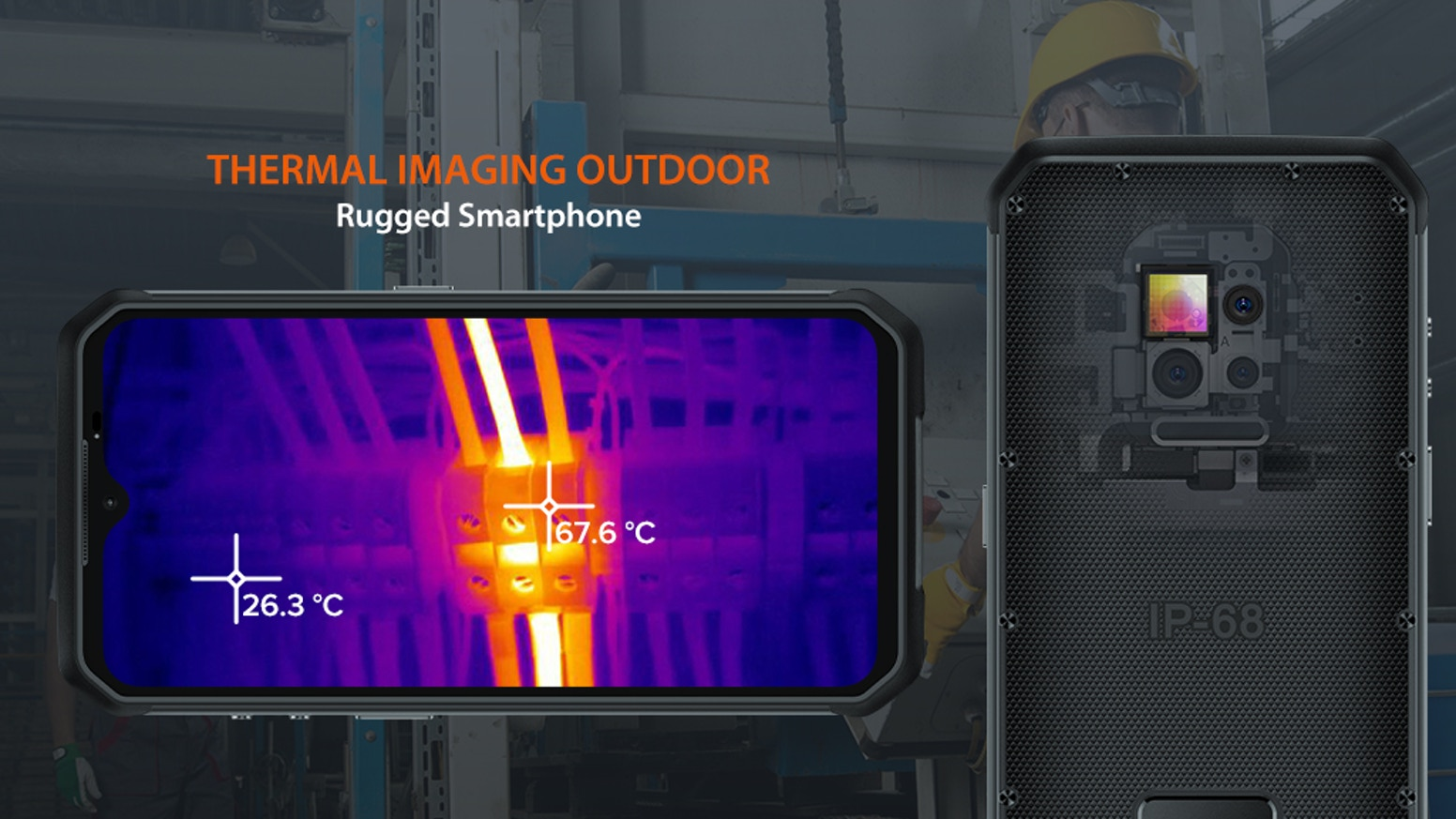 The first professional thermal imaging outdoor rugged smartphone, IP68 protection grade, equipped with an industrial-grade endoscope.