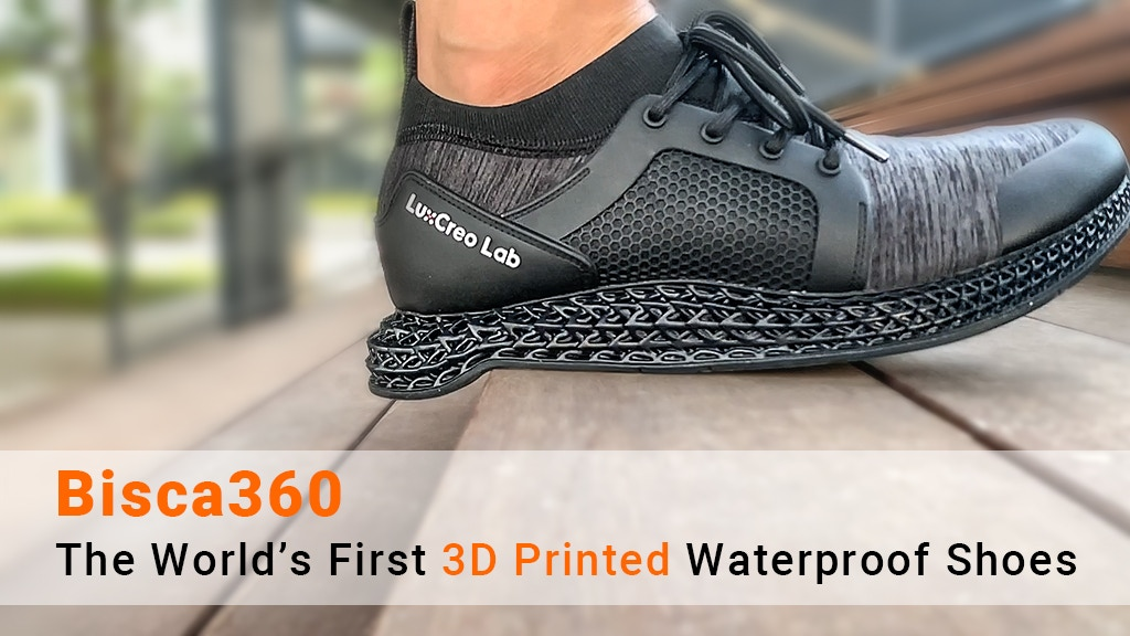 Bisca360: The World's First 3D Printed Waterproof Shoes project video thumbnail