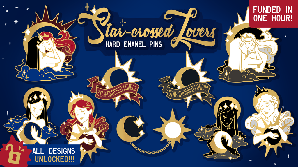 Project image for Star-Crossed Lovers: Enamel Pin Series