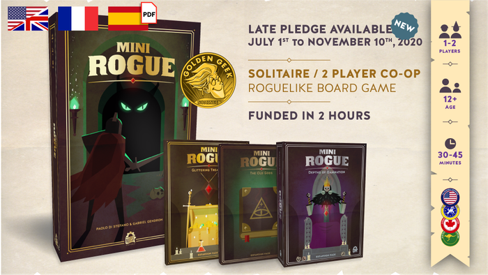 Discover the bigger and better version of this award-winning roguelike microgame! ⏳ Late pledges available from July 1st to November 10th, 2020