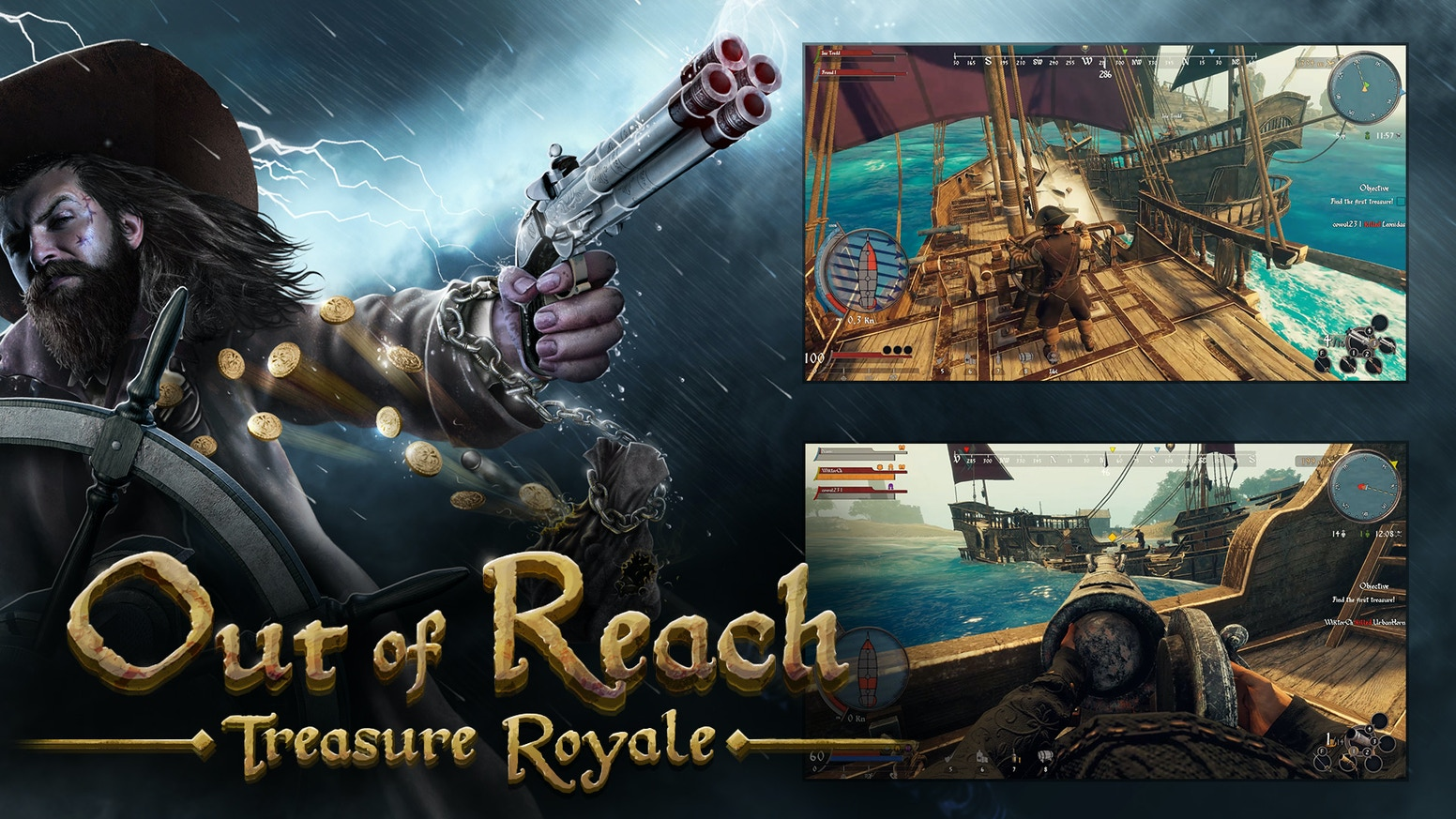 A Battle Royale game set in the Golden Age of Piracy, full of new mechanics, naval battles and gameplay tweaks. Find us on Steam!