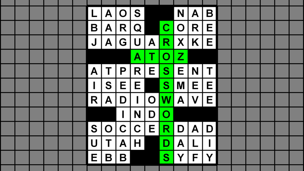 Project image for A-to-Z Crosswords Volume 2: More Petite Pangram Puzzles