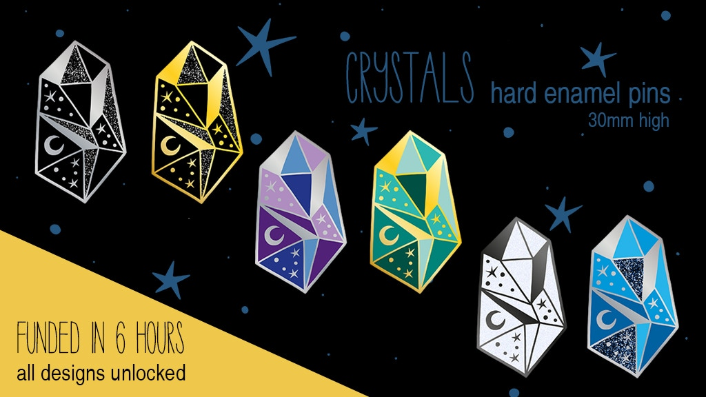 Project image for Celestial Crystals Hard Enamel Pins