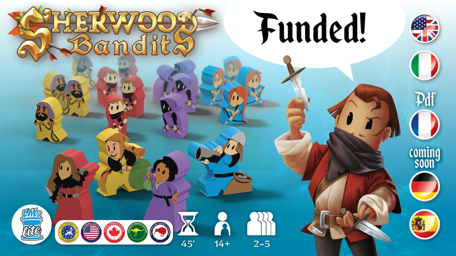 Sherwood Bandits is a fun game where you need to manage your bandits, gambling skills and luck with  the dice.