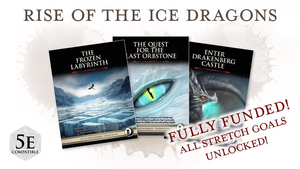Rise of the Ice Dragons Trilogy: Three RPG Adventures for 5e project video thumbnail