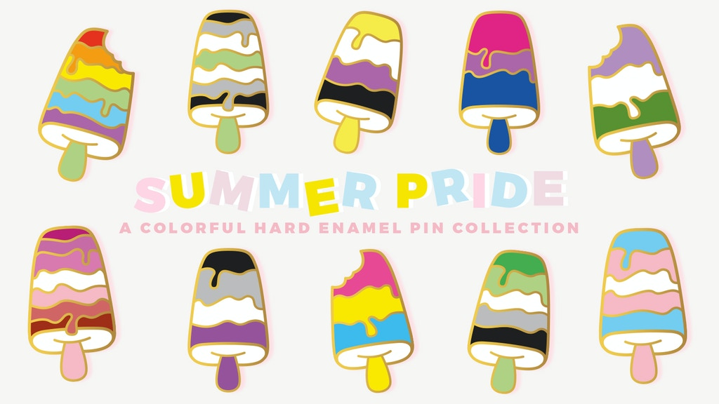 Project image for Summer Pride • Colorful Hard Enamel Pin Collection (Canceled)