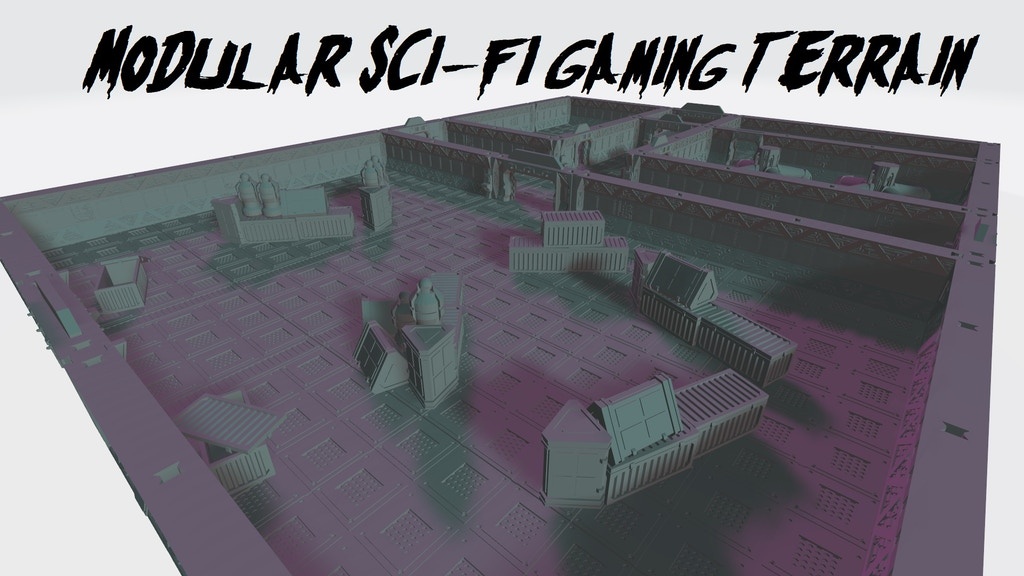 Project image for Modular Sci-Fi Gaming Terrain