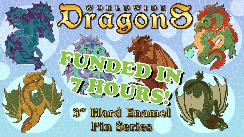 Worldwide Dragons Enamel Pins project video thumbnail