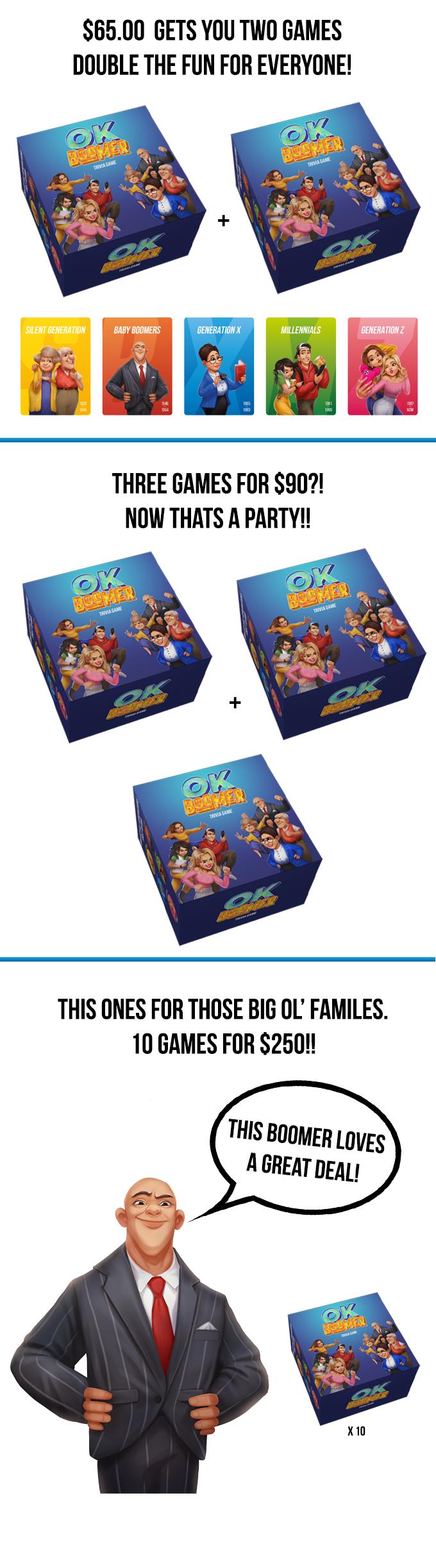 Ok Boomer A New Generation Of Trivia By Joe Spisak Kickstarter