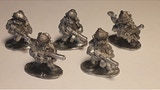 28mm Metal Sci Fi Dwarf Miner Warriors and their Enemies thumbnail