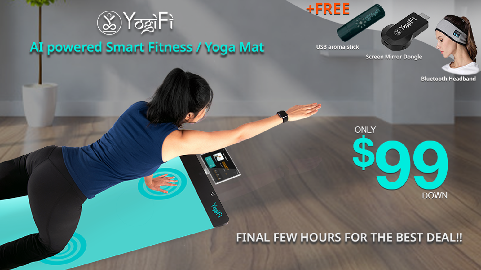 An Interactive Fitness Mat that provides guided instructions and real-time corrections on your form/poses, for yoga and other workouts.