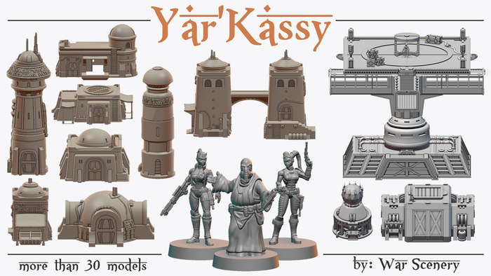 3D printable STL terrain and miniatures for Tabletop wargaming. Including houses, fortifications and scatter terrain.