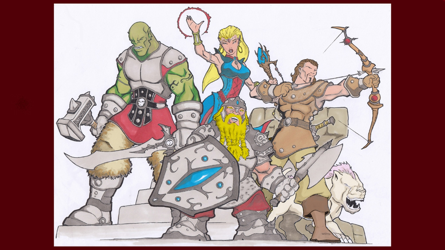 I will draw your Dungeons and Dragons ( D&D ) ( D and D ) or any other role playing games ( RPG ) characters.