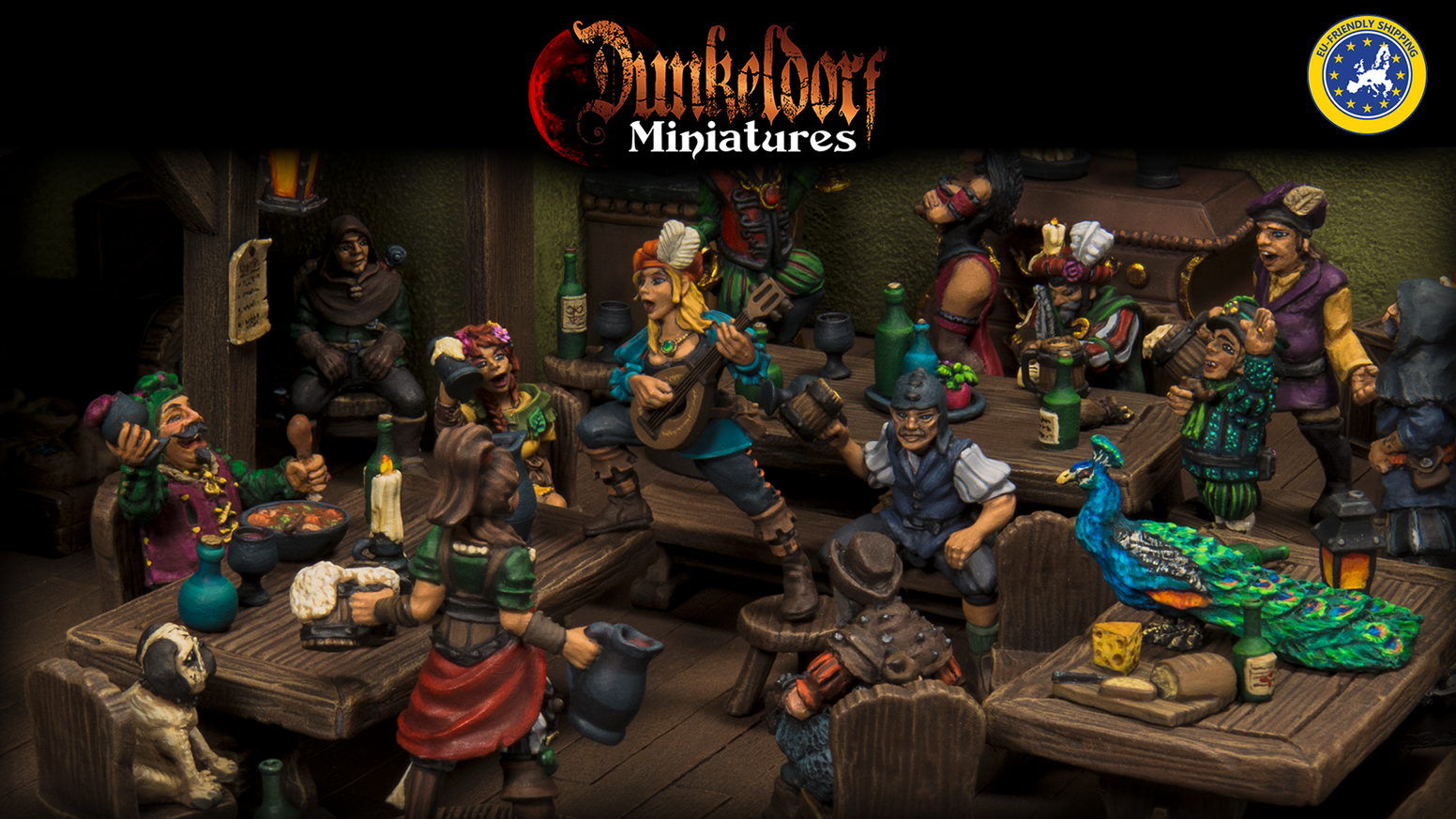 Dunkeldorf Miniatures - A line of characterful townsfolk & tavern miniatures for RPGs and Tabletop Gaming.