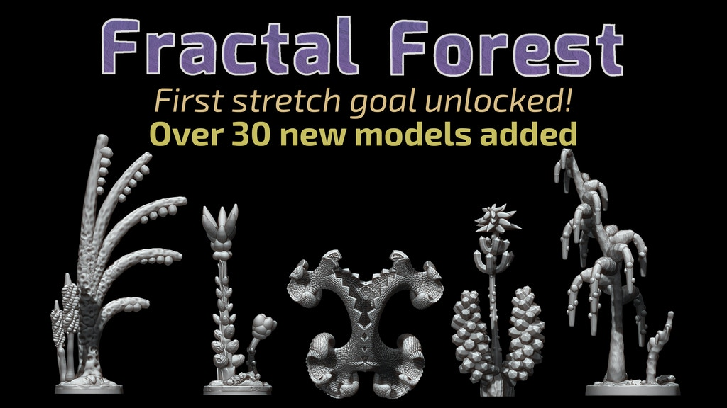 Fractal Forest - 3D printable models project video thumbnail