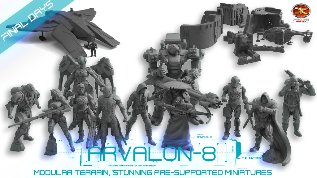 Arvalon 8, 3D Printable Sci-fi Terrain and Miniatures project video thumbnail