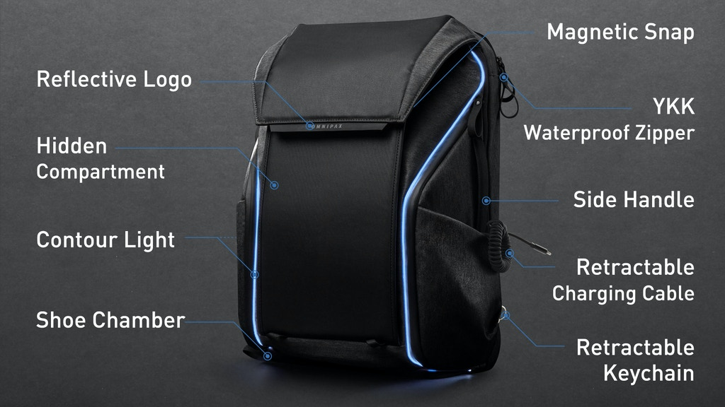 DAWN: Versatile Tech-filled Urban Backpack project video thumbnail