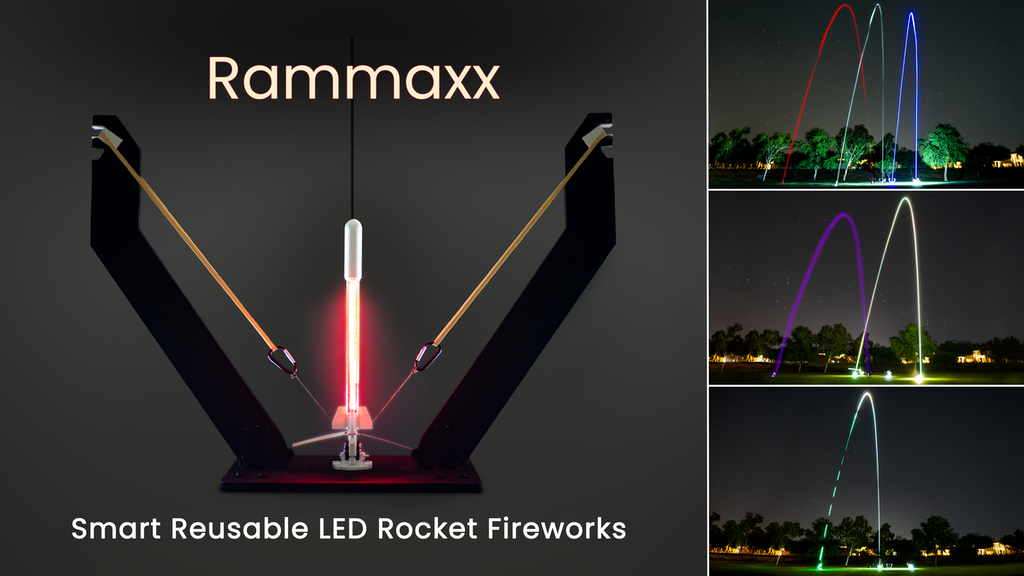 Rammaxx - Powerful Reusable Smart LED Rocket Fireworks