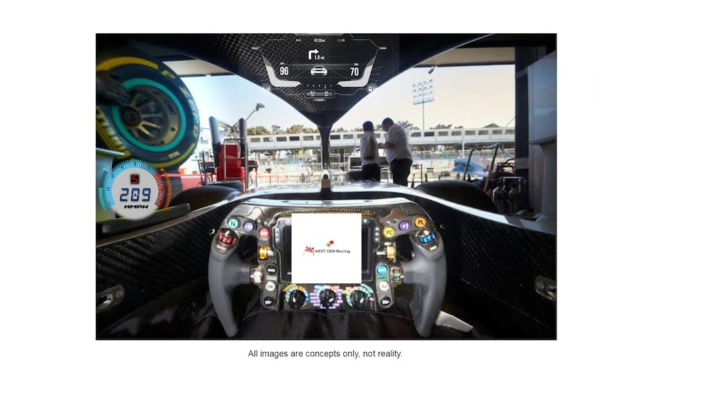 Project image for NextGen Racing - Advanced Heads up Display Technology(Idea)