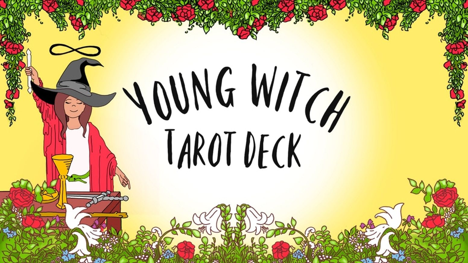Young Witch Tarot is a bright and beautiful new deck for the young or young at heart. Plastic cards for durability and easy cleaning!