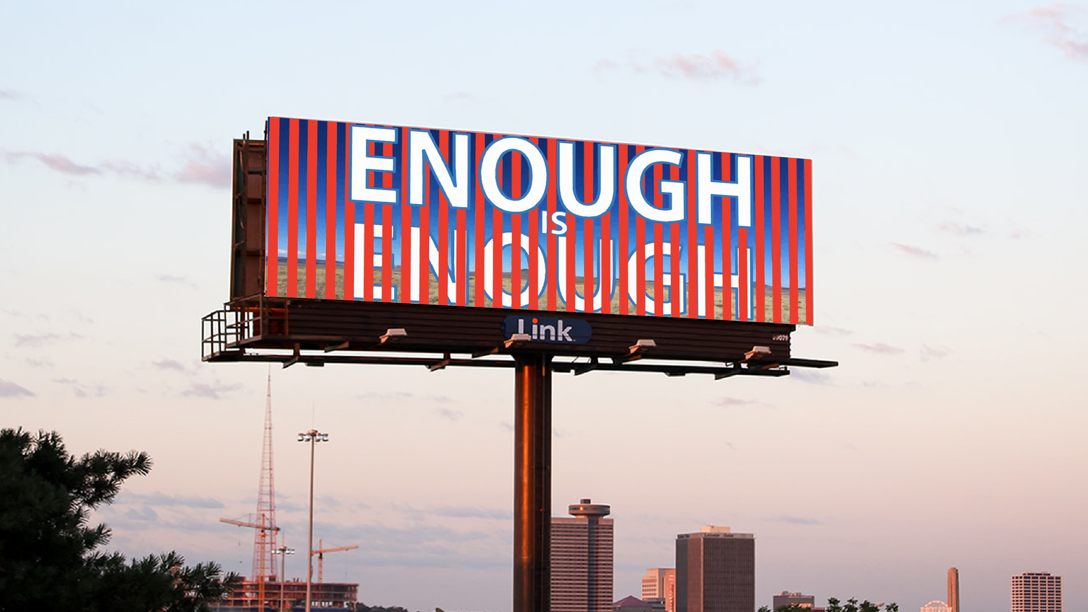 We're working to get Trump out of office by placing artist-designed billboards in swing states.