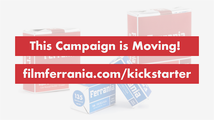 All future correspondence will take place through filmferrania.com/kickstarter. Visit today and read the update.