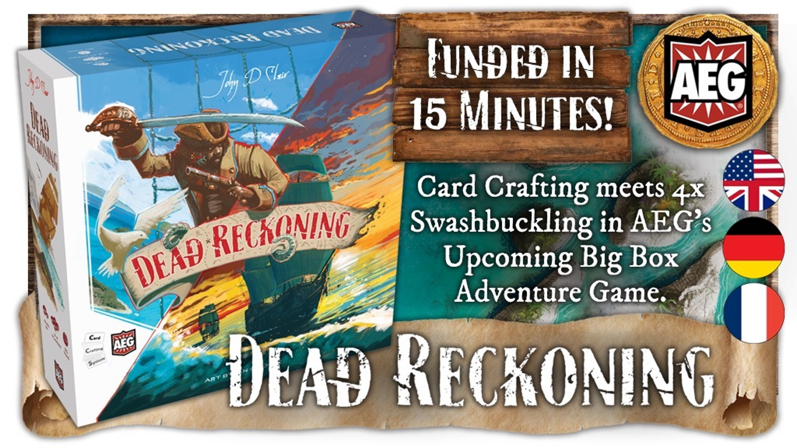 4x meets card crafting in John D Clair's next masterpiece! Immersive high seas action where you choose your path to victory.